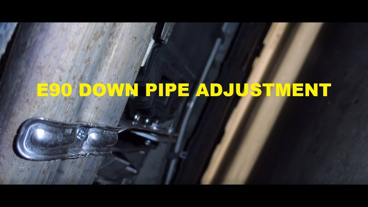 BMW E90 335i Exhaust Down Pipe Adjustment **Rattle Fix**