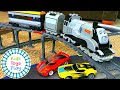 Lego Train Crashes with Hot Wheels Race Cars