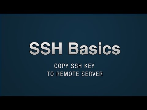 SSH - Copy Public Key To Remote Server