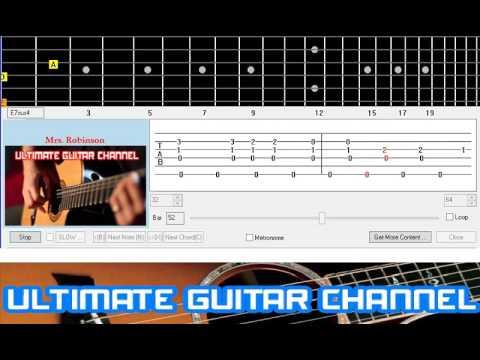 Guitar Solo Tab Mrs Robinson Simon And Garfunkle Youtube