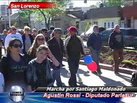 SAN LORENZO MARCHA POR SANTIAGO MALDONADO NOTICIERO VISIÓN REGIONAL CABLE VISIÓN