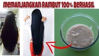 memanjangkan rambut 100% berhasil menggunakan bahan alami