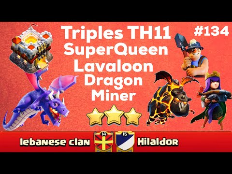 ClashOfClan🌟 3 Stars TH11 With QWalk - Lavaloon,Dragon,&Miner #134 🌟 September 2017 🌟