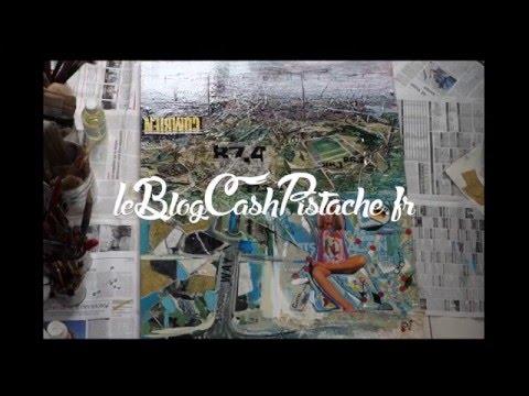 Impressive Art Creation - Peinture time lapse carte abstraite de Berlin (fun & speed)