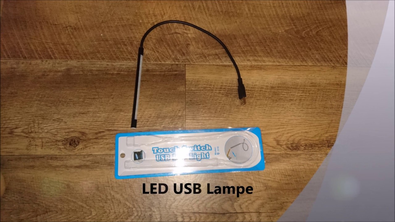 Usb led lampe test youtube usb led lampe test parisarafo Images