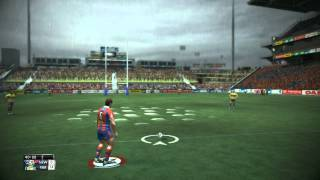 Rugby League Live 2 Gameplay on LEGEND difficulty - Knights Vs Eels -