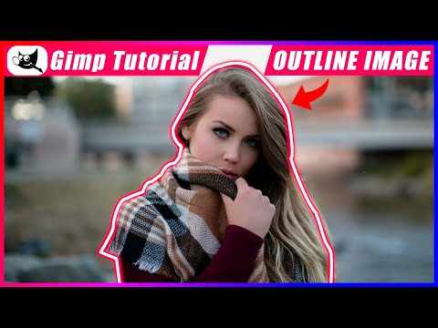 How to outline an image in gimp | Gimp tutorial | Gimp tutorial in hindi thumbnail