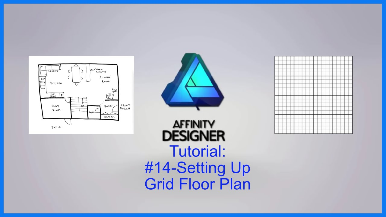 Affinity Designer Tutorial 14 Setting Up Floor Plan Grid Youtube
