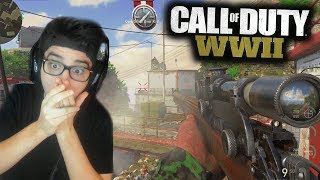 I HIT THE FIRST EVER WW2 TRICKSHOT!! (Call of Duty: WW2)