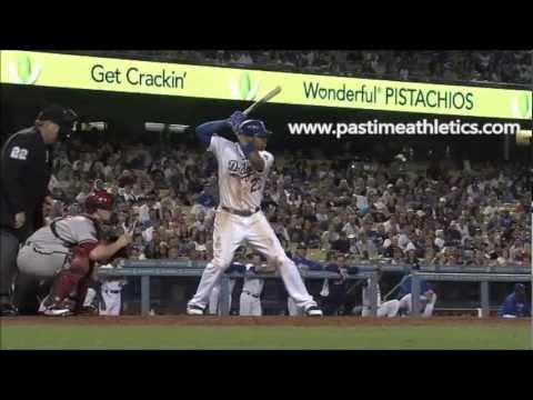 Matt Kemp Slow Motion Home Run Baseball Swing - Hitting Mechanics Instruction LA Dodgers