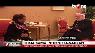 Kerjasama Indonesia-Vatikan, Susi Pudjiastuti Bertemu Paus Fransiskus
