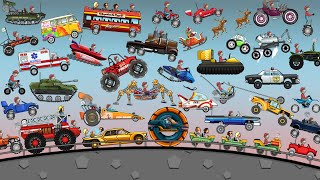 Hill Climb Racing - ALL VEHICLES UNLOCKED 2021 and FULLY UPGRADED Video Game screenshot 4