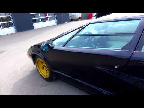 Black Lamborghini Countach LP400 S  - very tired, needing a full  restoration - YouTube