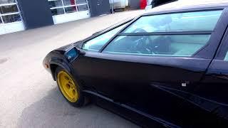Black Lamborghini Countach LP400 S  - very tired, needing a full  restoration
