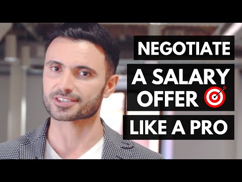 How to Negotiate a Salary During the Job Offer (after the interview)