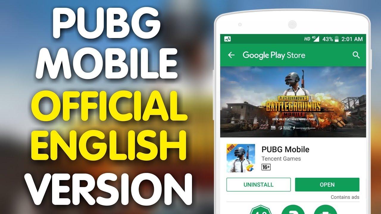 Pubg Mobile English Version: Download PUBG Mobile Official English Version APK DATA
