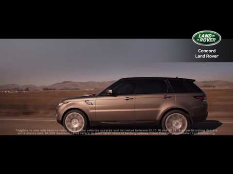 Concord Land Rover's 2016 Model Year Spring Run out is now on!*