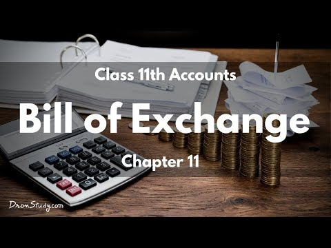 Bill of Exchange- Class 11 XI - ACCOUNTS | Video Lecture in Hindi