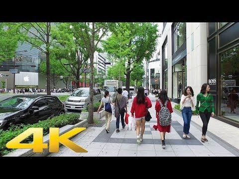 Walking around Midosuji Shopping Street, Osaka - Long Take【大阪・御堂筋】 4K