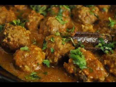 Chicken Kofta Meatballs Curry Indian Recipe