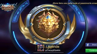 NEW SAISON GORD LEGENDE RANK #1 Mobile Legends Road To Mythic SEMAINE SCPECIAL SKIN