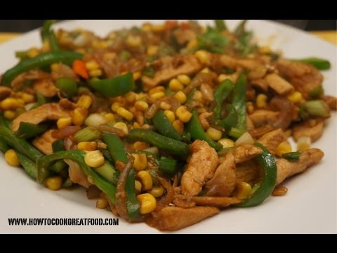 asian-food---stir-fry-chicken-corn-n-peppers-with-oyster-sauce-recipe-easy-n-fast