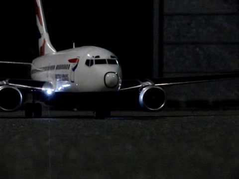British Airways 737 RC model airliner