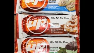 B Up Protein Bar: Sugar Cookie, Cinnamon Roll & Chocolate Mint Review