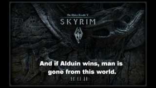 Tale of the Tongues - Skyrim (Lyrics included)