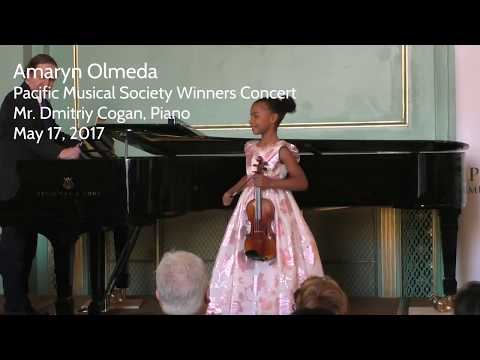 Amaryn plays Introduction and Rondo Capriccioso, Pacific Musical Society