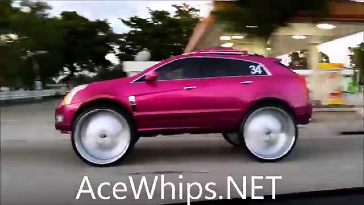 Acewhips Net Candy Pink Cadillac Srx On 34 Quot Forgiatos