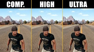 PUBG GTX 1070 1440p (Competitive, High and Ultra Graphics)