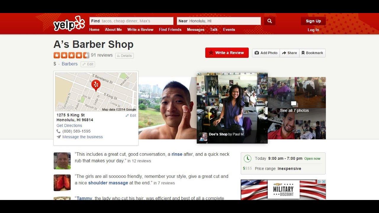 Barber Shop Honolulu Review - As Barbershop on Oahu - YouTube