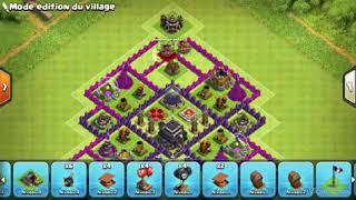 Clash of clan Vilage hdv 9 anti 3 étoile