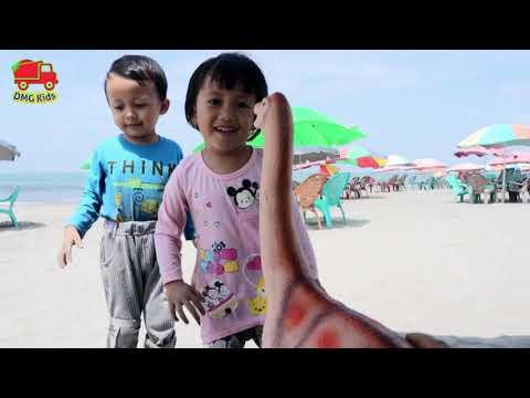 Mainan Anak Mencari Mainan Dinosaurus Di Dalam Pasir Dinosaurs For Kids Youtube