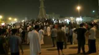 A large crowd in eastern Saudi Arabia protest the arrest of Sheikh Nimr al-Nimr July 2012