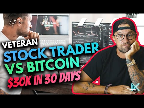 Pro Stock Trader Vs Crypto I learned How To Trade Bitcoin in 30 Days For $30k Profit?!