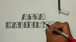 Menulis Kata Atta Halilintar 3D. Raja Youtube Asia Tenggara.