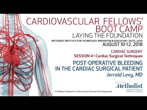 Post-operative Bleeding In The Cardiac Surgical Patient (Jerrold Levy, MD)