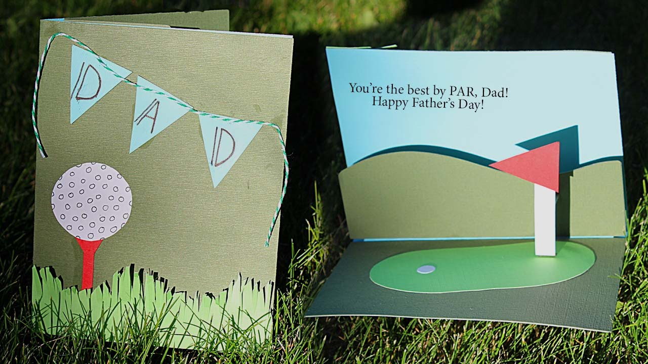 Golf Themed Pop Up Card Tutorial