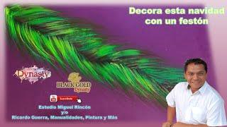 Como pintar festón o ramas de pino para navidad (pintura decorativa) con Miguel Rincón