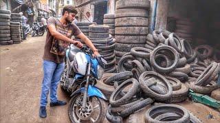 Rs.400 ka Tyre   Mayapuri mai sab kuch milega !! thumbnail