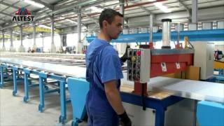 Видео экскурсия по производству алюминиевых профилей АЛТЕСТ(В данном видео Вы сможете ознакомиться с этапами процесса в изготовлении алюминиевых профилей, которые..., 2015-02-26T14:02:17.000Z)