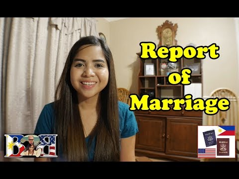 REPORT OF MARRIAGE (ROM) REQUIREMENTS | PHILIPPINE EMBASSY & CONSULATE