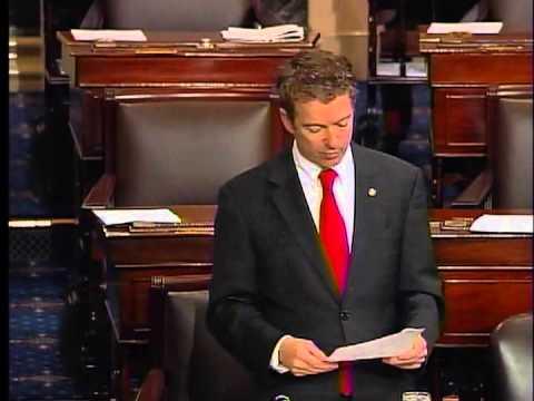 030613 - Sen. Rand Paul Senate Filibuster - HOUR 1