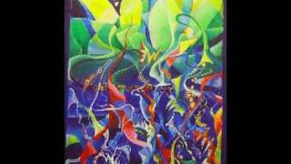 Abstract Acrylic painting: The dreams of Jacob