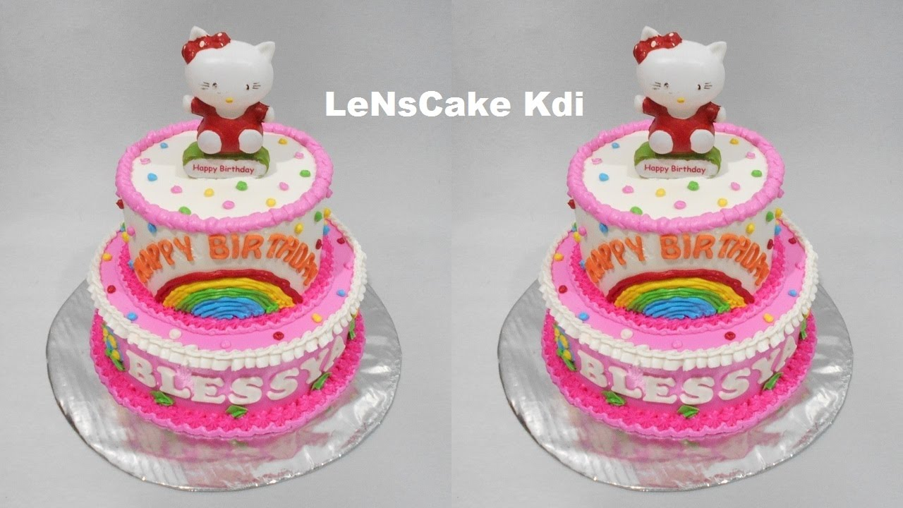 Hello Kitty Cake 2 Layers YouTube