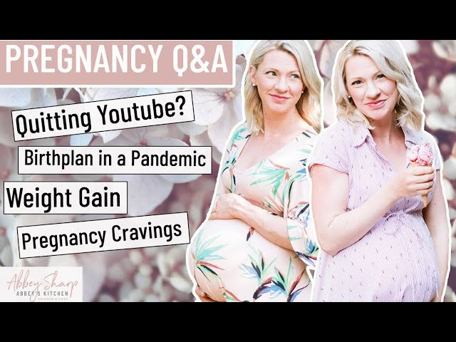 Pregnancy Q&A | Weight Gain, Birth Plan, What's Labour Pain Like? Quitting YouTube for Motherhood?