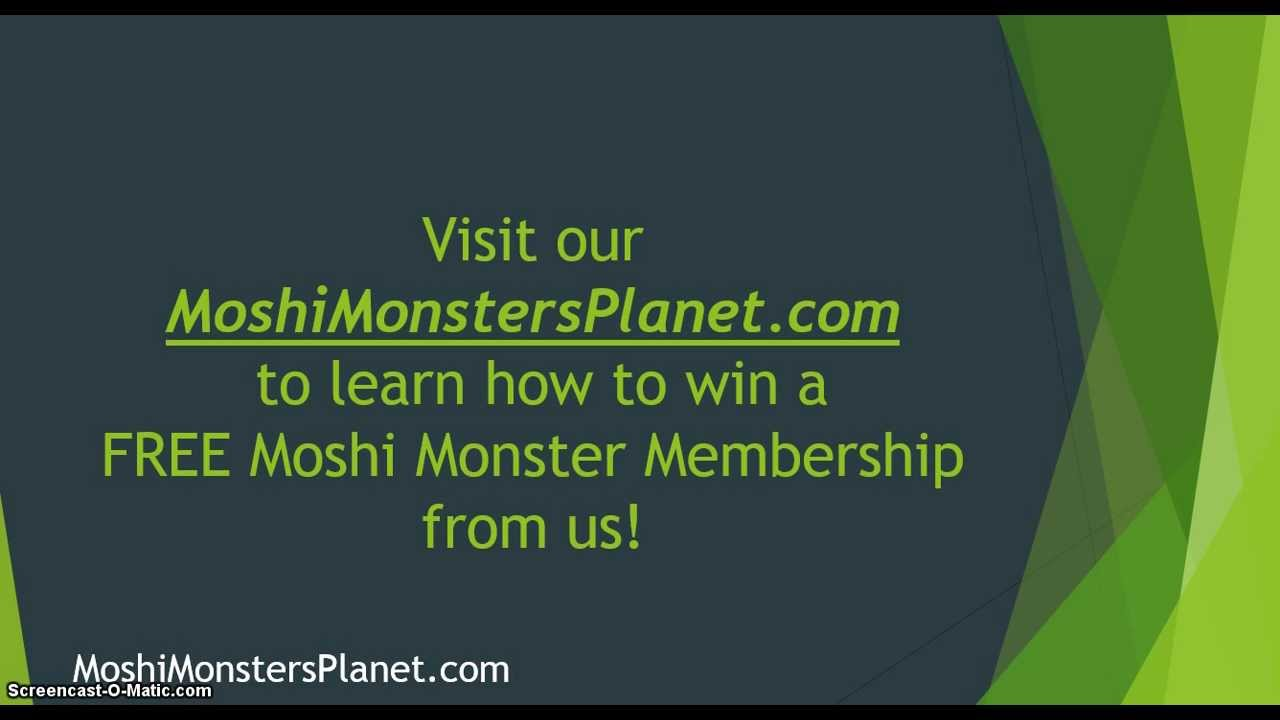 Exclusive: Free 24 Hour Membership For All! - Moshi Monsters