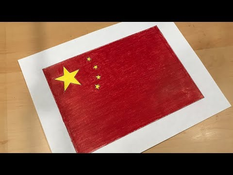 Chinese Flag Drawing 🇨🇳
